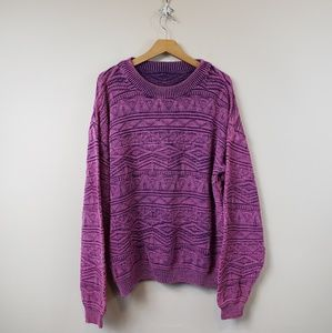 Vintage Oversized Pink & Purple Sweater